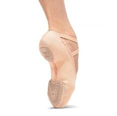 נעלי בלט מפוצלות בד אלסטי גומיות תפורות