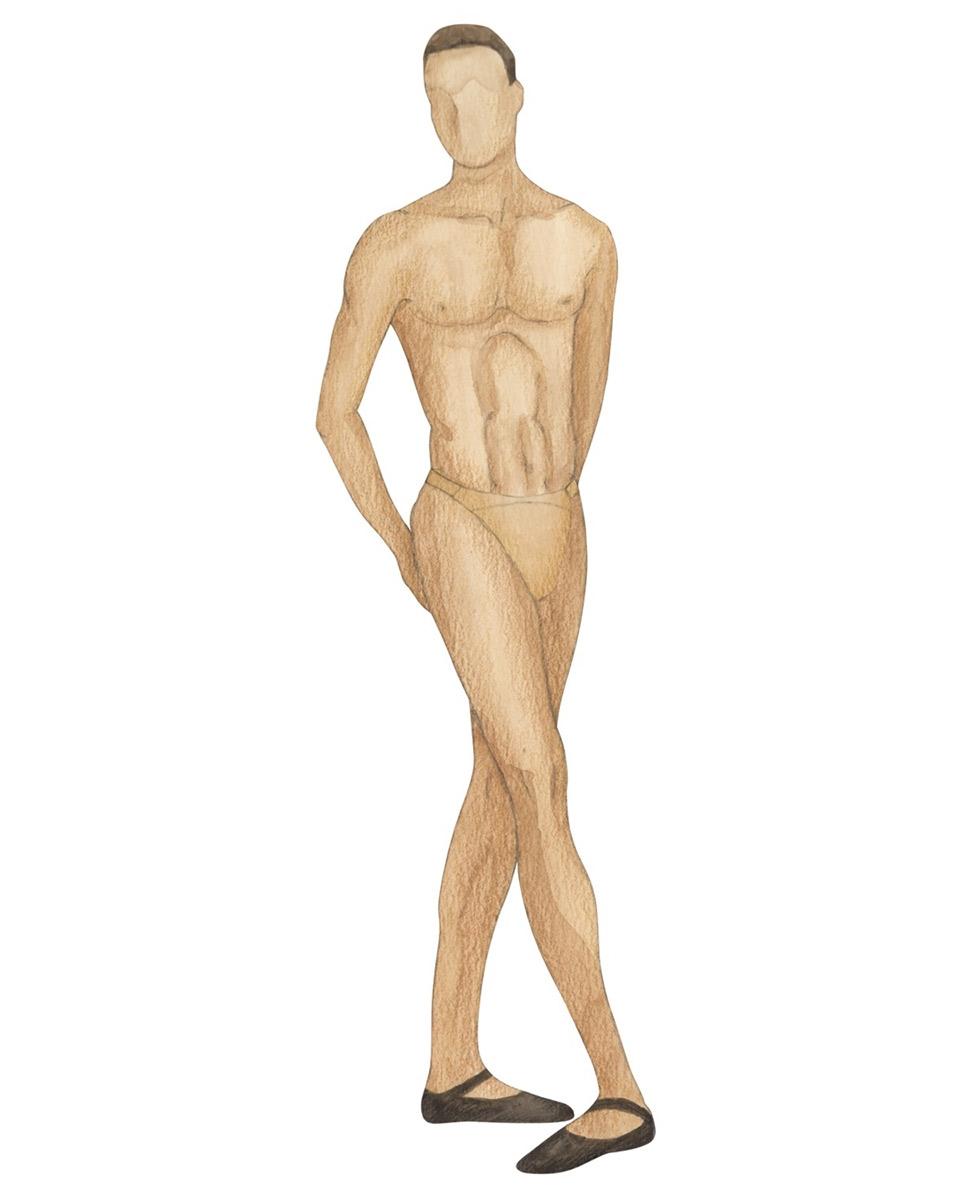 תחתון ריקוד לגברים