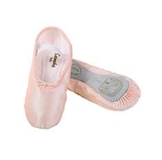 נעלי בלט מסאטן סוליה שלמה עם רצועת גומי תפורה