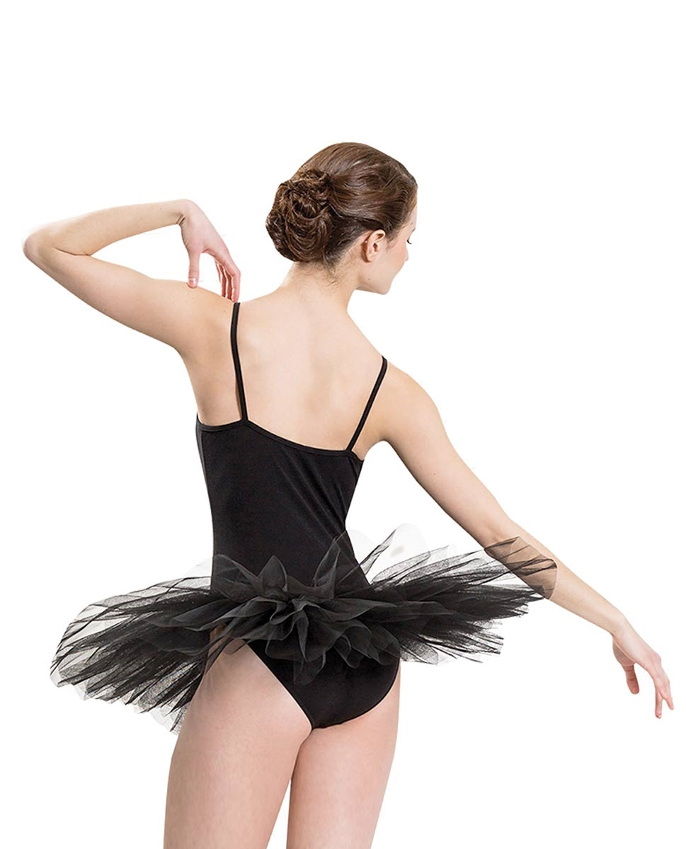 שמלת טוטו לבלט מבד לייקרה מבריקה