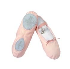 נעלי בלט בד סוליה מפוצלת עם רצועות גומי תפורות