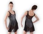שמלת ריקוד של פלום מבד רשת