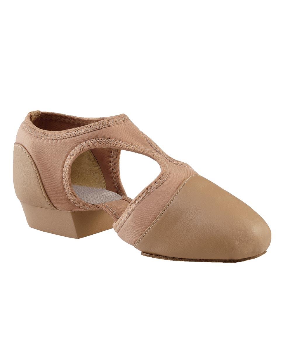 נעלי הוראה מעור בשילוב בד סוליה מפוצלת